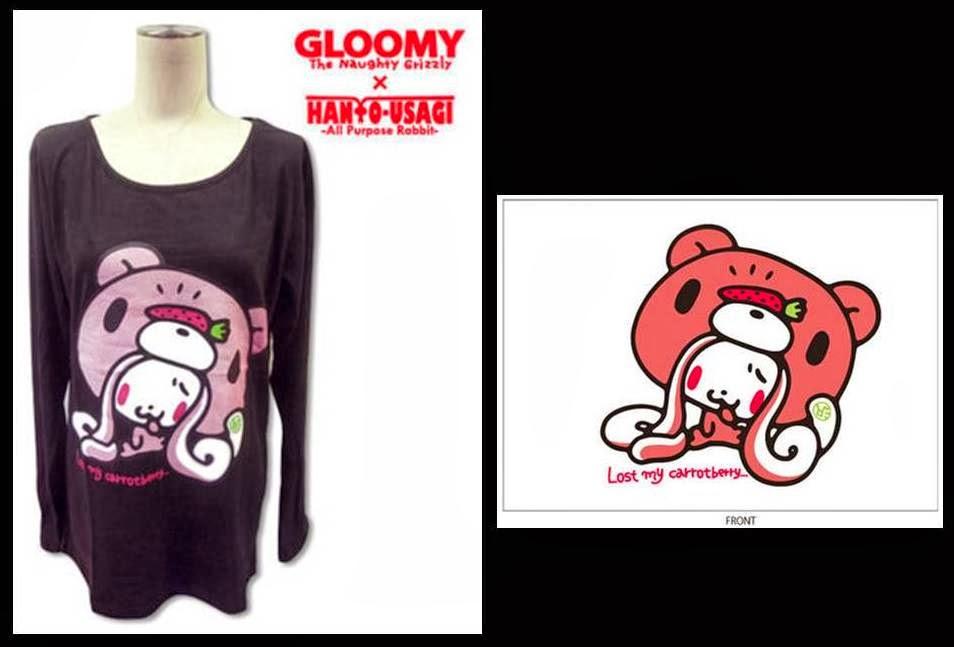 Gloomy X Hanyo Usagi Missing Carrotberry T-shirt